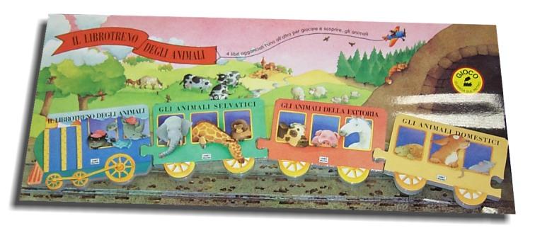 Libro animali treno