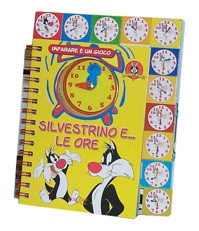 Libro per bambini Silvestro e Titti impara le ore