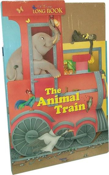 Libro the animal train per bambini