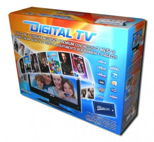 Scatola cartone per Digital TV