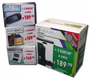 Scatole cartone Console Videogiochi