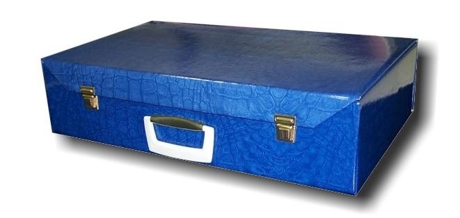 Valigia blu chiusa