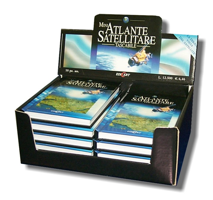 Display libri Atlante satellitare