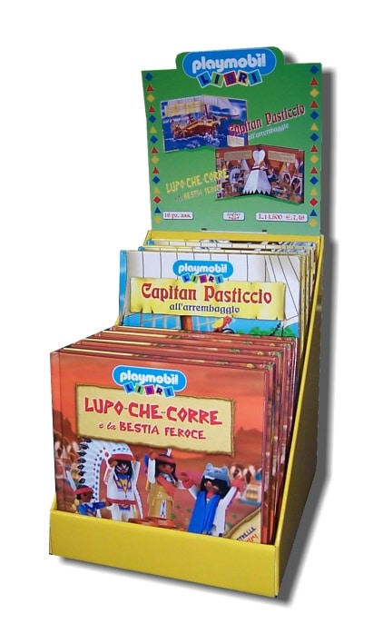 Display libri Playmobil