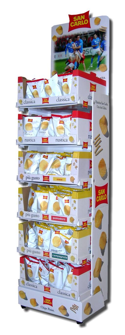 Espositore patatine San Carlo