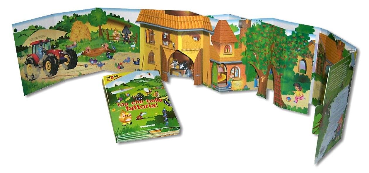 Libro per bambini a leporello tridimensionale