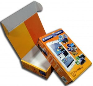 Scatola cartone Galaxy Tab