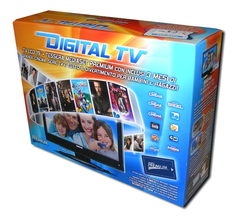 Scatola cartone per Digital TV