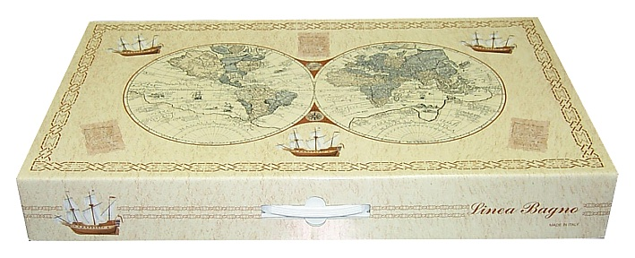 Valigia decorata mappa
