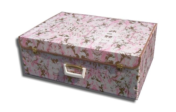 Valigia fiori rosa