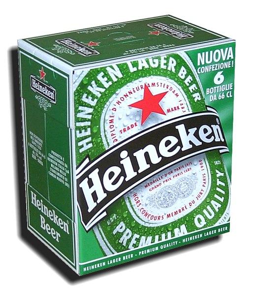 Scatola cartone birra Heineken