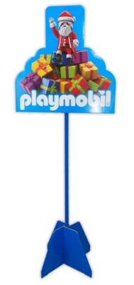 cartello con piantana Playmobil